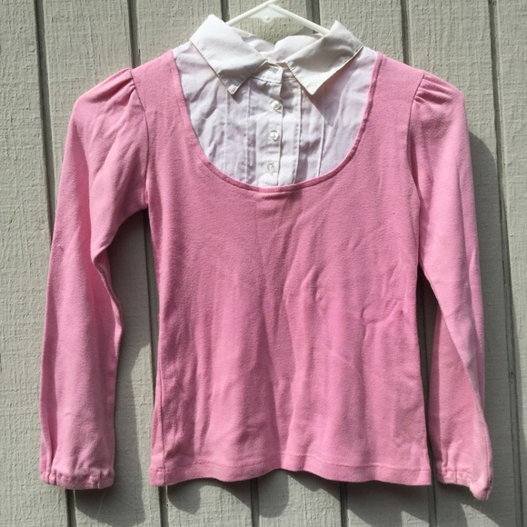 Other - Kids pink collared button down